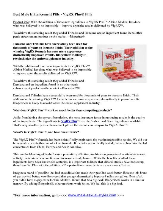 What Is VigRX Plus Pills